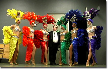 picture of David with the Las Vegas dancers