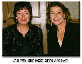 Chris with Helen Reddy