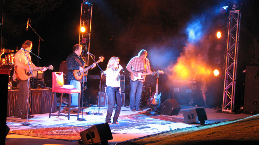 Lee Ann Womack performing at the Hyatt Lost Pines resort