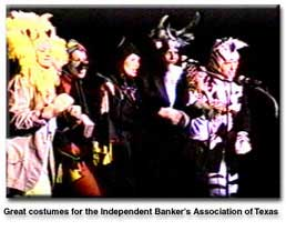 picture of scene from an Independent Bankers's Association of Texas benefit show